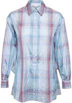 Stella McCartney Crop-Back Checked Shirt