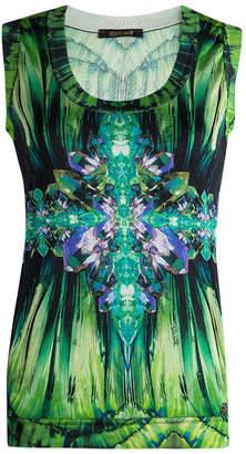 Roberto Cavalli Multicolor Printed Silk Sleeveless Top M
