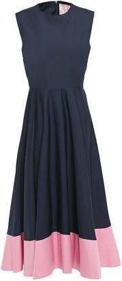 Roksanda Flared Gathered Cotton-poplin Midi Dress