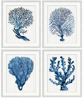Pottery Barn Coral in Blue Print