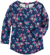 Osh Kosh Girls 4-8 Floral French Terry Pullover