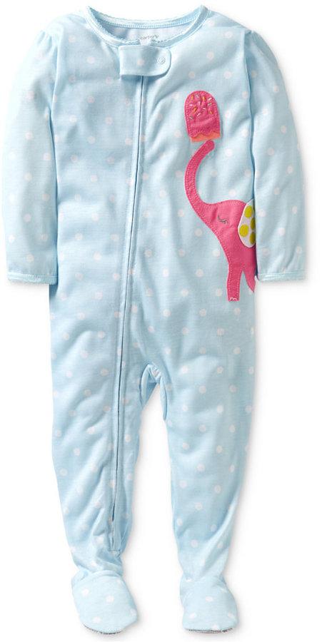 Carter's Toddler Girls' Polka Dot Footed Pajamas
