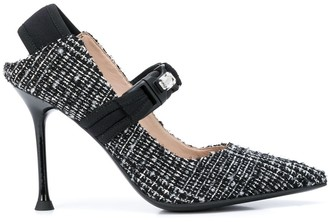 Alberto Gozzi embellished mary jane pumps