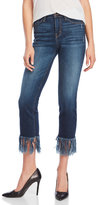 Flying Monkey Cropped Fringe Hem Jeans