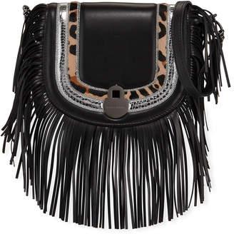 Longchamp Cavalcade Fringed Leather Crossbody Bag