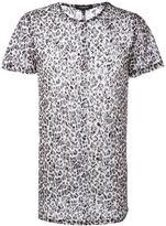 Unconditional leopard mesh style T-shirt
