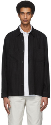 Hope Black Linen Overshirt Jacket