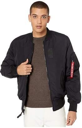Alpha Industries Reversible MA-1 Down Flight Jacket (Black) Men's Clothing