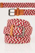 Yours Clothing BadRhino Red & Multi Stretch Woven Belt
