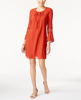 NY Collection Petite Bell-Sleeve Peasant Dress