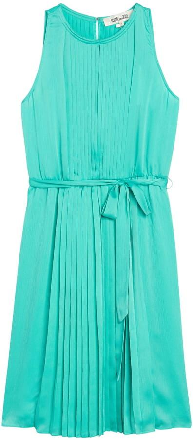 Diane von Furstenberg Ria Sleeveless Pleated Dress