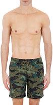 Sundek Men's Camouflage Swim Trunks-DARK GREEN