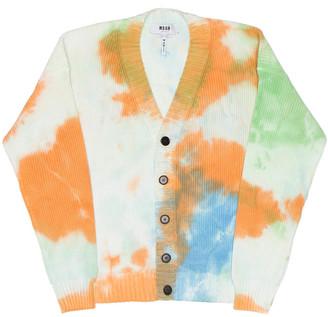 MSGM Tie Dye Cardigan