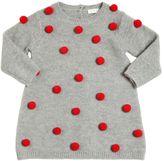 Il Gufo Knitted Merinos Wool Dress W/ Pompoms