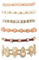 Charlotte Russe Mixed Rhinestone & Beaded Bracelets - 6 Pack