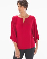 Stretch Woven Tunic Top Raphael Red