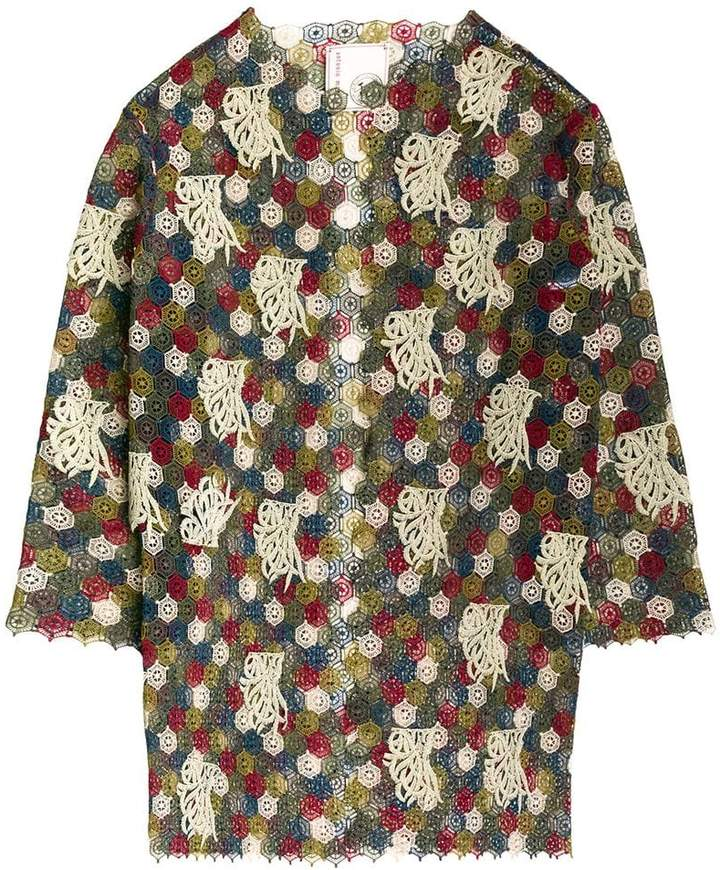 Antonio Marras embroidered oversized jacket