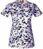 Dickies Gen Flex by Women's V-Neck Animal Print Scrub Top Print