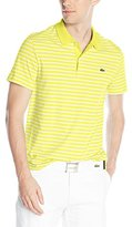 Lacoste Men's Short Sleeve Striped Jersey Regular Fit Polo Shirt