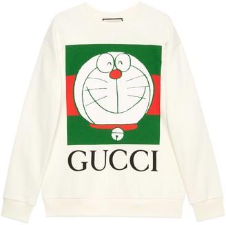 Gucci Doraemon x cotton sweatshirt
