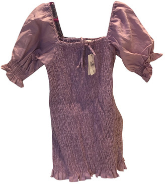 Faithfull The Brand Purple Linen Dresses