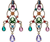 Lanvin WOMEN'S CRYSTAL-EMBELLISHED ARABESQUE EARRINGS