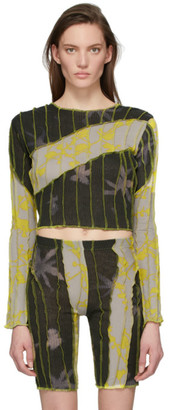 Helenamanzano SSENSE Exclusive Grey and Yellow Anemone T-Shirt