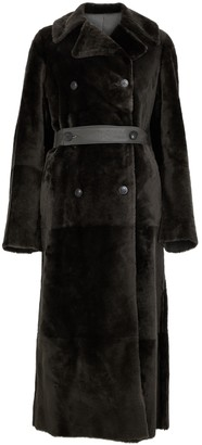 Anne Vest Blaire army green reversible shearling coat