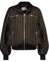 Zimmermann Lavish Track Striped Wool-Blend Twill Bomber Jacket