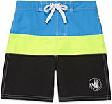 Asstd National Brand Body Glove Colorblock Swim Trunks - Preschool Boys 4-7