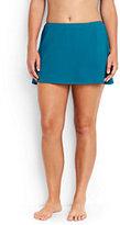 Lands' End Women's Plus Size SwimMini Skirt Control-Aquamarine Sea Prairie Rose