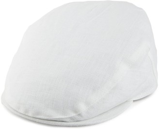 Failsworth Hats Linen Flat Cap - White 57