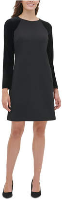 Tommy Hilfiger Petite Velvet-Sleeve A-Line Dress