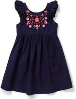 David Jones Embroidered Ruffle Dress (3-7 Years)