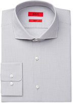 HUGO BOSS HUGO Slim-Fit Light Gray Check Dress Shirt