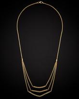 Italian Gold 14K Diamond Cut Beads Layered Necklace