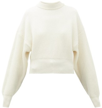 Cordova Megeve Cropped Ribbed-knit Wool Sweater - Womens - Cream