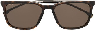 HUGO BOSS Tortoiseshell Square-Frame Sunglasses