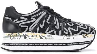Premiata Beth embroidered platform sneakers