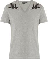 Alexander McQueen Swallow-print cotton-jersey T-shirt