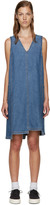 Sjyp Blue Denim Unbalanced Dress