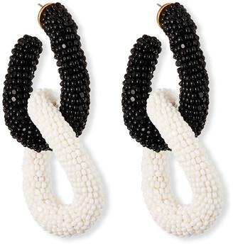 Oscar de la Renta Beaded Link Earrings
