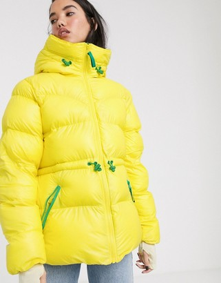Hunter fleece lined puffer coat