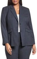 Sejour Plus Size Women's Marine Suit Jacket