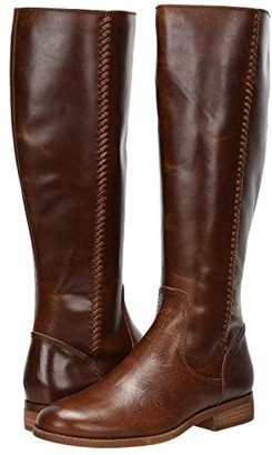 Frye Jolie Whip Tall (Cognac Vintage Pull Up Leather) Women's Boots