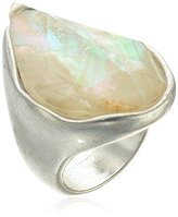 "Robert Lee Morris Cool As Ice"" Semiprecious Stone Sculptural Ring, Size 7.5"