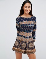 AX Paris Geo-Tribal Printed Romper