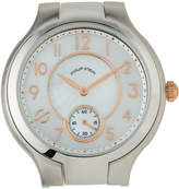 Philip Stein Teslar Stainless Steel Small Round Classic Watch Head, Mother-of-Pearl