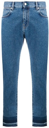 McQ Raw-Edge Slim-Fit Jeans