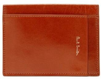 Paul Smith Leather Cardholder - Orange